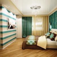 дизайн спальни с обоями двух цветов фото 20
