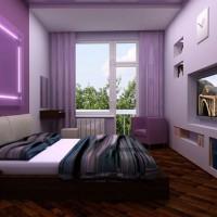 дизайн спальни с обоями двух цветов фото 33