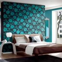 дизайн спальни с обоями двух цветов фото 37