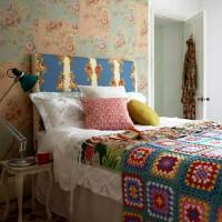 дизайн спальни с обоями двух цветов фото 48