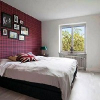дизайн спальни с обоями двух цветов фото 8