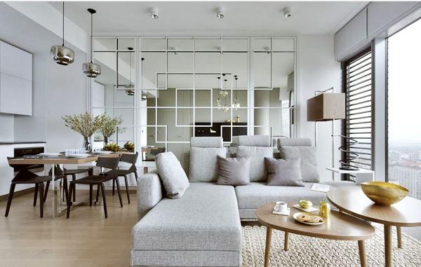 интерьер гостиной в белых тонах фото