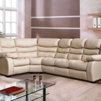 кожаный угловой диван фото 32