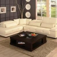 кожаный угловой диван фото 9