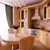 кухня в бежево коричневых тонах фото 10