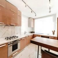 кухня в бежево коричневых тонах фото 14