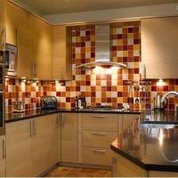 кухня в бежево коричневых тонах фото 23