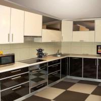 кухня в бежево коричневых тонах фото 26