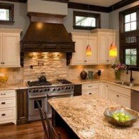 кухня в бежево коричневых тонах фото 27