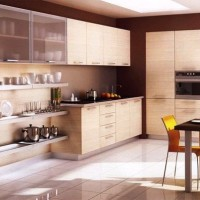 кухня в бежево коричневых тонах фото 3