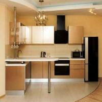 кухня в бежево коричневых тонах фото 5