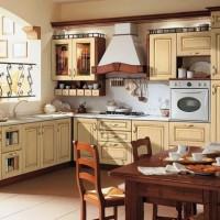 кухня в бежево коричневых тонах фото 9
