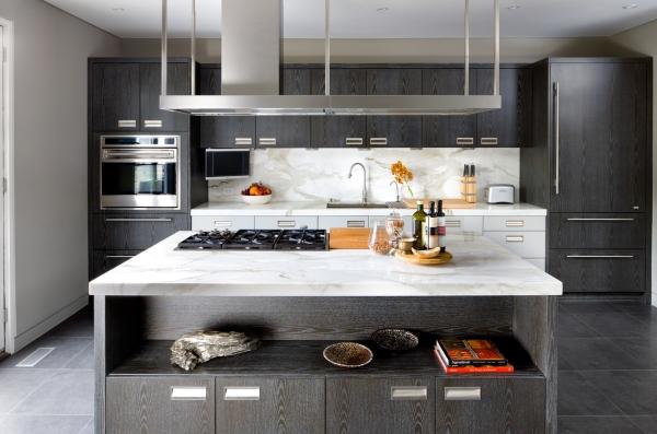 мебель цвета венге с серым фасадом фото