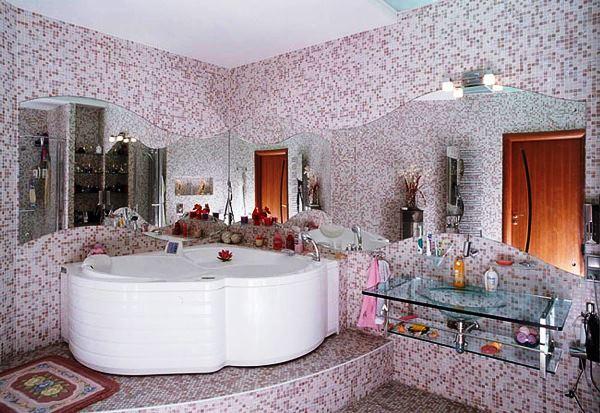 мозаика в интерьере ванной комнаты фото 2