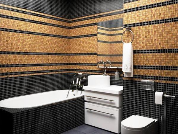 мозаика в интерьере ванной комнаты фото 3