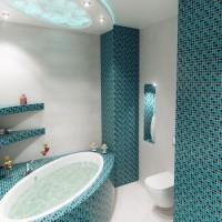 мозаика в ванной дизайн фото 32