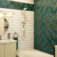 мозаика в ванной дизайн фото 37