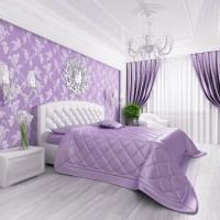 сиреневая спальня фото 11