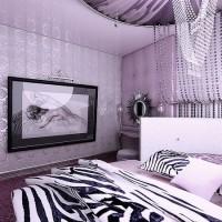 сиреневая спальня фото 18