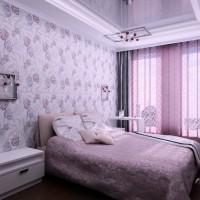 сиреневая спальня фото 22