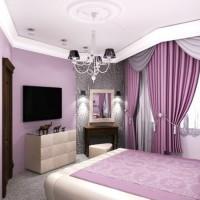 сиреневая спальня фото 23