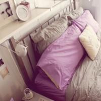 сиреневая спальня фото 27