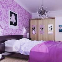 сиреневая спальня фото 33