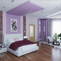 сиреневая спальня фото 38