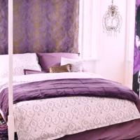 сиреневая спальня фото 4