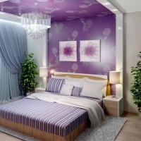 сиреневая спальня фото 41