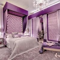 сиреневая спальня фото 48