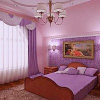 сиреневая спальня фото 6