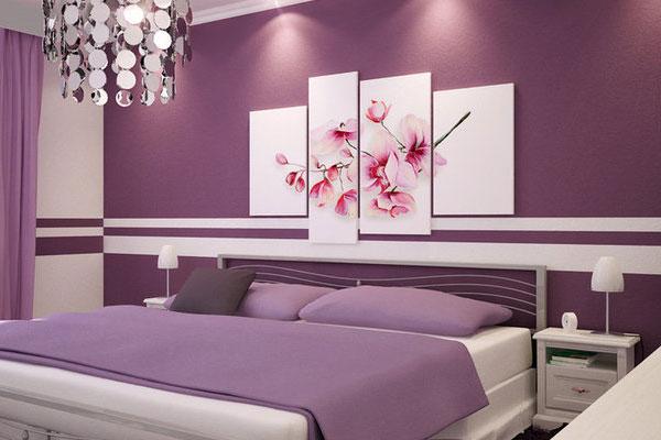 спальня в сиреневом цвете фото