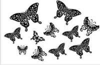 трафарет бабочки для вырезания на стену
