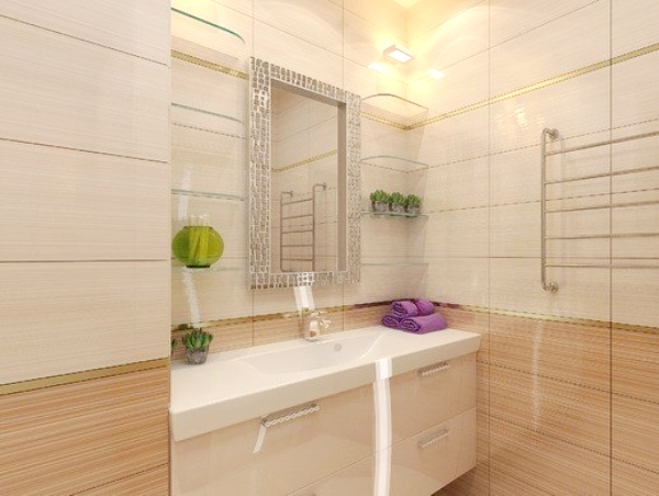 ванна в бежевом цвете фото 4