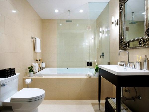 ванна в бежевом цвете фото 5