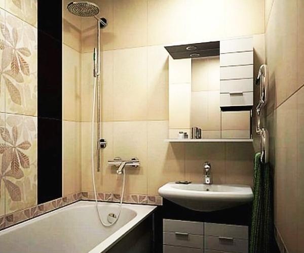 ванна в бежевом цвете фото 7