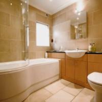 ванная в бежевых тонах фото 10