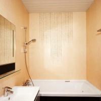 ванная в бежевых тонах фото 12
