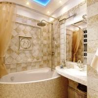 ванная в бежевых тонах фото 16
