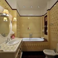 ванная в бежевых тонах фото 18