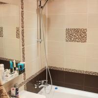 ванная в бежевых тонах фото 22