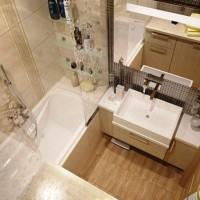 ванная в бежевых тонах фото 25