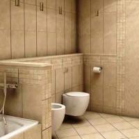 ванная в бежевых тонах фото 26
