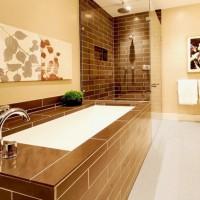 ванная в бежевых тонах фото 27