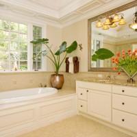 ванная в бежевых тонах фото 28