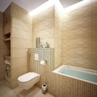 ванная в бежевых тонах фото 30