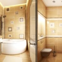 ванная в бежевых тонах фото 32