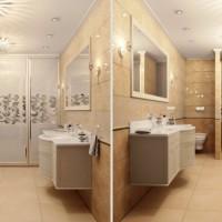 ванная в бежевых тонах фото 35