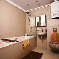 ванная в бежевых тонах фото 39